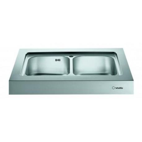Blocco lavello da appoggio scholtes ep902 acciaio inox - Lavelli cucina da appoggio ...
