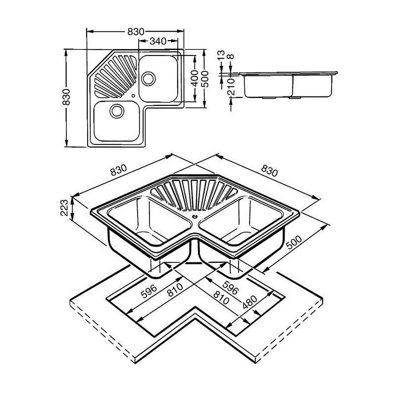 Lavelli Ad Angolo Acciaio Inox | Mercantilpontevedra