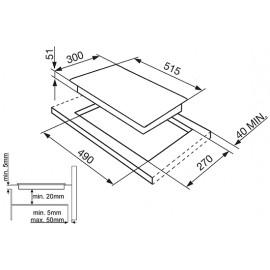 SMEG PIANO COTTURA A INDUZIONE SI5322B - 30 CM
