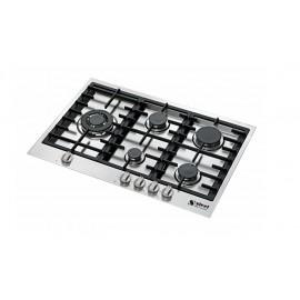 PIANO COTTURA STEEL SERIE GENESI GB7B-5 ACCIAIO INOX 75 CM