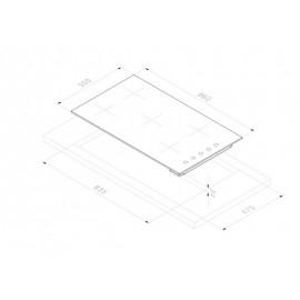 PIANO COTTURA SMALVIC BASIC INOX 90 PI-NC93 4G+1BDC VS INOX ACCIAIO INOX - 90 CM