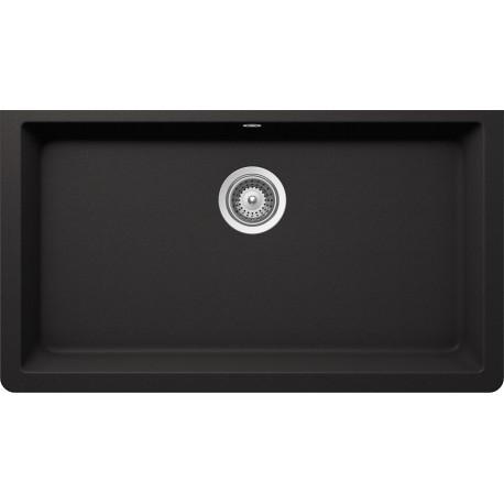 Lavello sottotop schock solido n100 xl monovasca nero for Lavello nero
