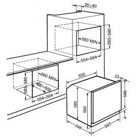 FORNO ELETTRICO TERMOVENTILATO SMEG SF68X 60 CM INOX ANTIMPRONTA ESTETICA SELEZIONE CLASSE ENERGETICA A