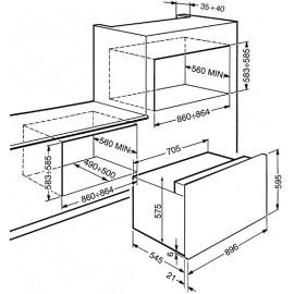 FORNO TERMOVENTILATO SMEG S920XMF ESTETICA CLASSICA ACCIAIO INOX 90 CM CLASSE A