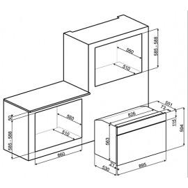 FORNO A GAS STATICO SMEG SF9370GX ESTETICA CLASSICA ACCIAIO INOX 90 CM CLASSE A