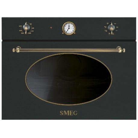 FORNO A MICROONDE CON GRILL SMEG SF4800MAO ANTRACITE ESTETICA COLONIALE 45 CM CLASSE A