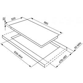 PIANO COTTURA SMEG SRV596-5 LINEA CONTEMPORANEA ACCIAIO INOX 90 CM