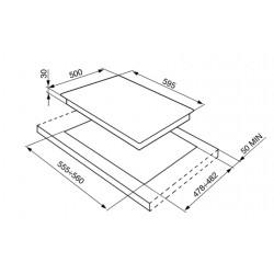 PIANO COTTURA SMEG SR264X ESTETICA SELEZIONE ACCIAIO INOX 60 CM