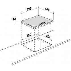 PIANO COTTURA SCHOCK PRIMUS PC60AVG BIANCO ALPINA 60 CM