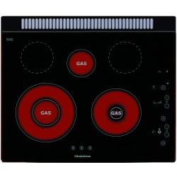 PIANO COTTURA VETROCERAMICA A GAS SMALVIC TOUCH 60 PVC-60 3G TC VETRO NERO - 60 CM