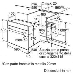 FORNO ELETTRICO VENTILATO BOSCH HBN211WOJ BIANCO 60 CM CLASSE A