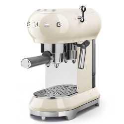 MACCHINA CAFFÈ ESPRESSO PANNA SMEG STILE ANNI 50 ECF01CREU