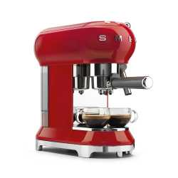 MACCHINA CAFFÈ ESPRESSO ROSSA SMEG STILE ANNI 50 ECF01RDEU