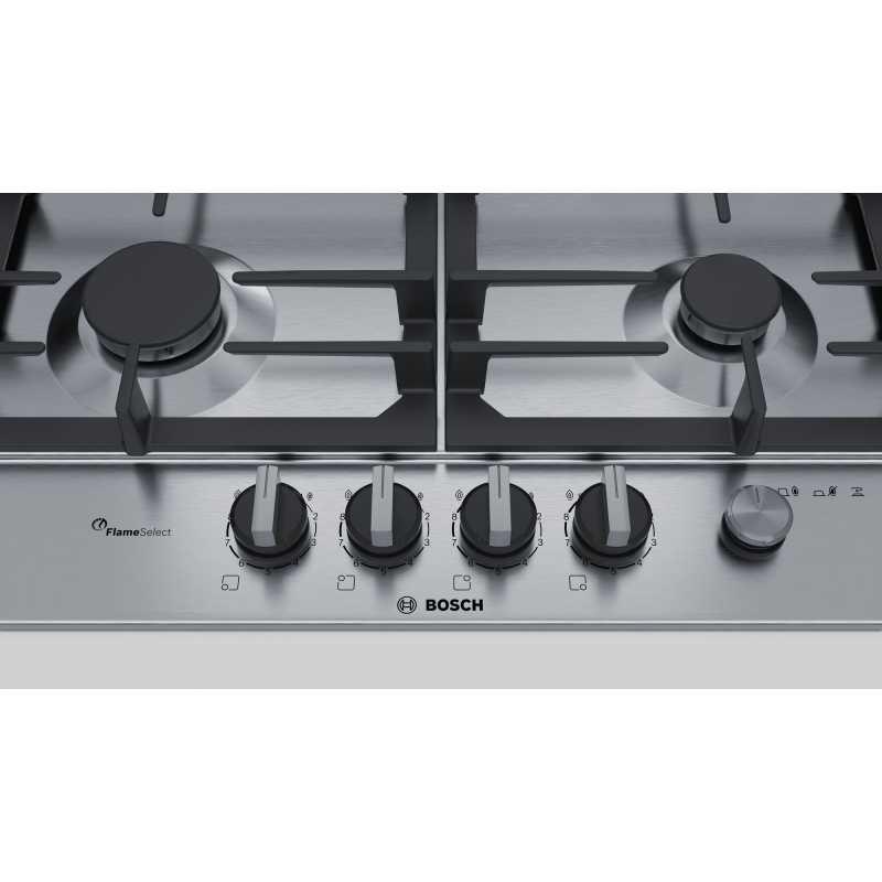 PIANO COTTURA BOSCH PCH6A5M90 ACCIAIO INOX 60 CM - FAB Appliances Italia