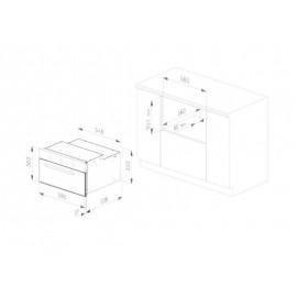FORNO ELETTRICO MULTIFUNZIONE SMALVIC FI-45WT SX10-PSC ACCIAIO INOX 45 CM CLASSE A
