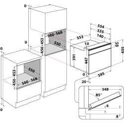 KITCHEN AID MICROONDE COMBI IN ACCIAIO INOX NERO 45 CM - KMQCXB 45600