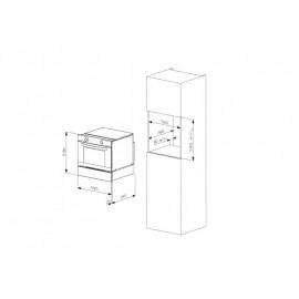 FORNO ELETTRICO MULTIFUNZIONE SMALVIC FI-45WT SX10-BT6 ACCIAIO INOX 45 CM CLASSE A